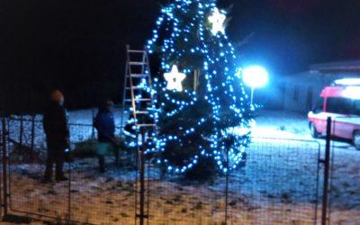 Fotografie projektu Rozsvěcování vánočního stromu amikulášská nadílka – SDH Nová Ves